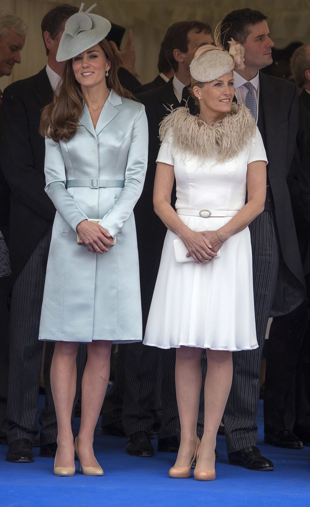 Kate Middleton in a Blue Coat