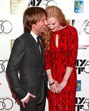 Keith made Nicole laughed when they attended the New York Film Festival in October 2012.