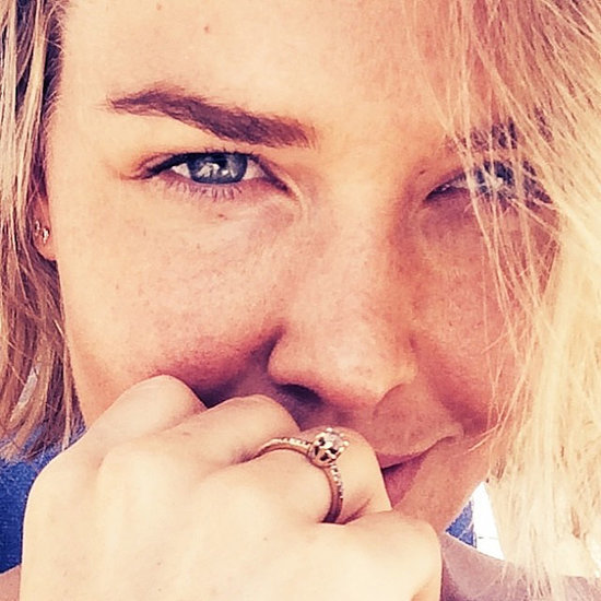 Lara Bingle Wearing Diamond Ring in Instagram Photo
