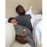 Kim Kardashian shared a sweet photo of Kanye West and their daughter, North West, on Father's Day, which happened to be North's birthday, too! Source: Instagram user kimkardashian