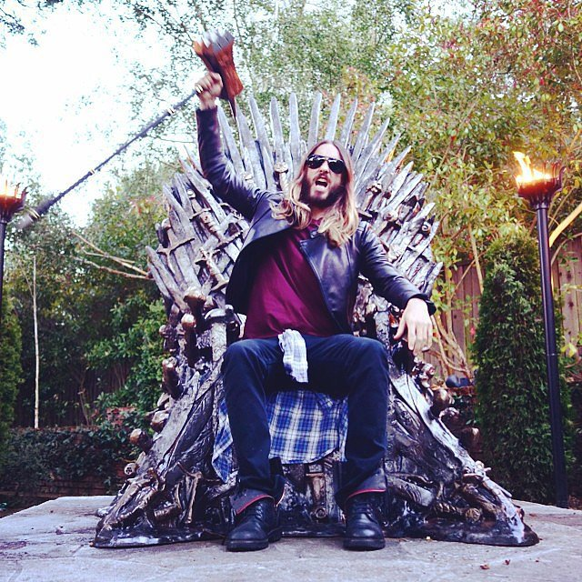 Jared Leto really loves Game of Thrones. Source: Instagram user jaredleto