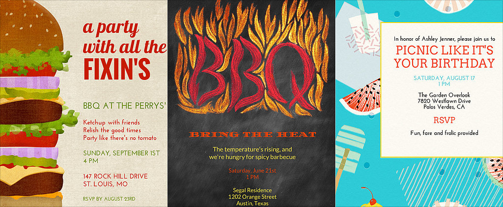 21 BBQ Invites Cute Enough to Eat