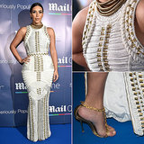Kim Kardashian Wearing a White Balmain Dress on a Yacht