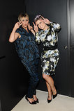 Kaley Cuoco and Kelly Osbourne embraced their silly sides at Vera Wang's party in LA on Wednesday.