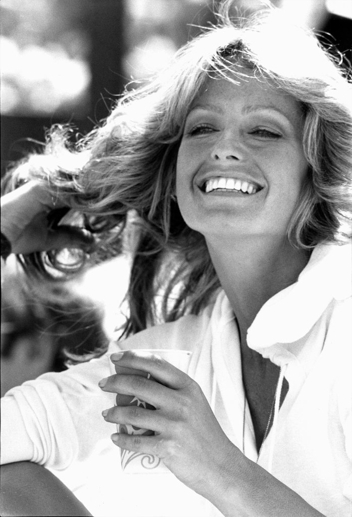 Farrah Fawcett at a Celebrity Tennis Match in 1978