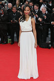 Saldana looked angelic in a ethereal pleated Victoria Beckham creation for the Grace of Monaco Cannes premiere in 2014.