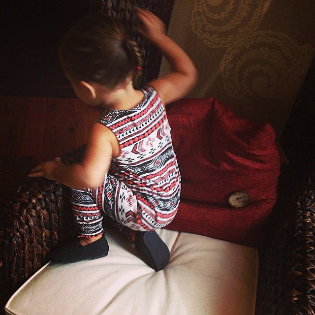 Penelope Disick was all decked out in her Kardashian Kids clothes. Source: Instagram user kourtneykardash