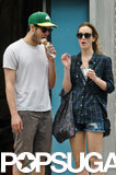 Adam Brody and Leighton Meester enjoyed ice cream in NYC together on Thursday.