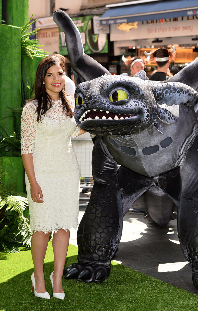 America Ferrera stepped out in London for a screening of her new movie, How to Train Your Dragon 2, on Sunday.