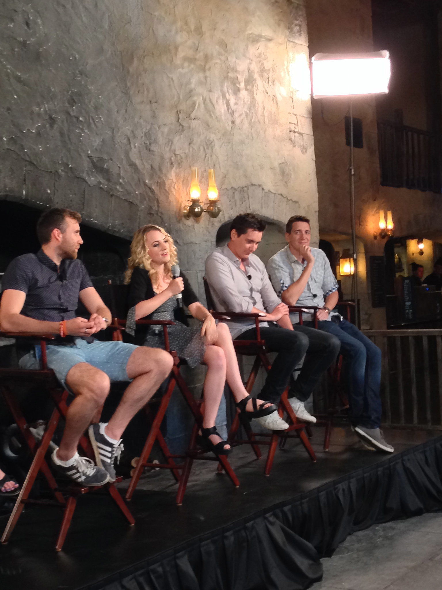 "Evanna Lynch explained that Diagon Alley is as much for fans of the Harry Potter films as it is for fans of the book series. She said, ""You can just walk through the books in this land."""