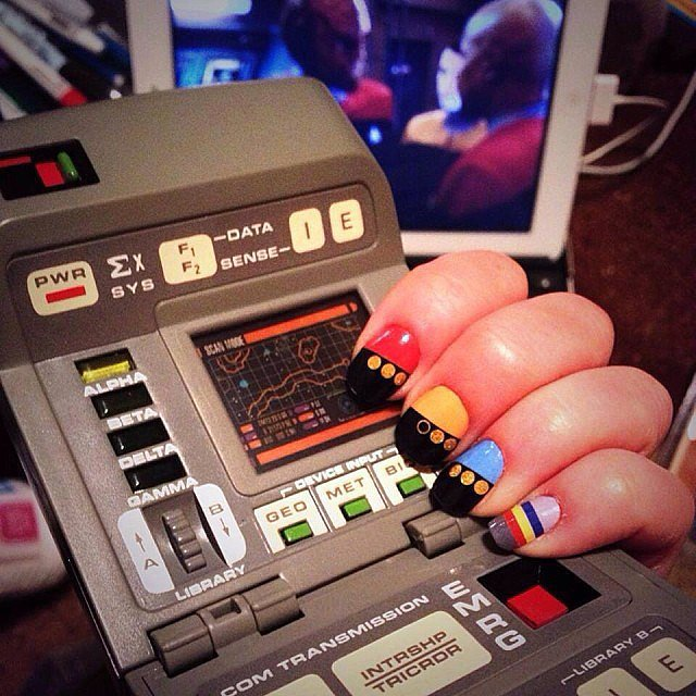 If the Enterprise allowed fabulous manicures as part of the uniform, you can bet the Make It So Nail Wraps ($10) would be regulation. Rep the colors of a specific Star Trek uniform as an accent nail, or wear 'em all for team spirit.