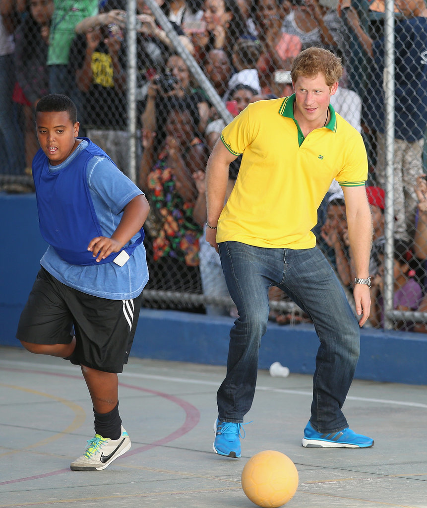 Who And Where Are Brazil Playing This Month And Who Is In: Prince Harry Playing Soccer In Brazil