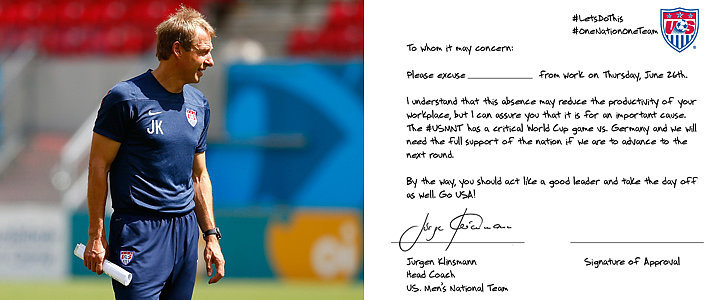 Here's the Get-Out-of-Work Note You Need to Watch the World Cup