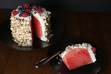 No-Bake Watermelon Cake