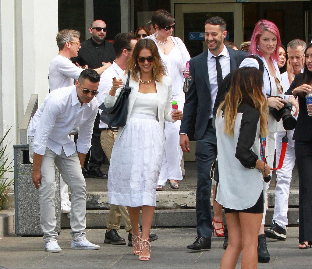 Jessica Alba Wedding: Jessica Alba And Cash Warren At A Friend's Wedding In LA