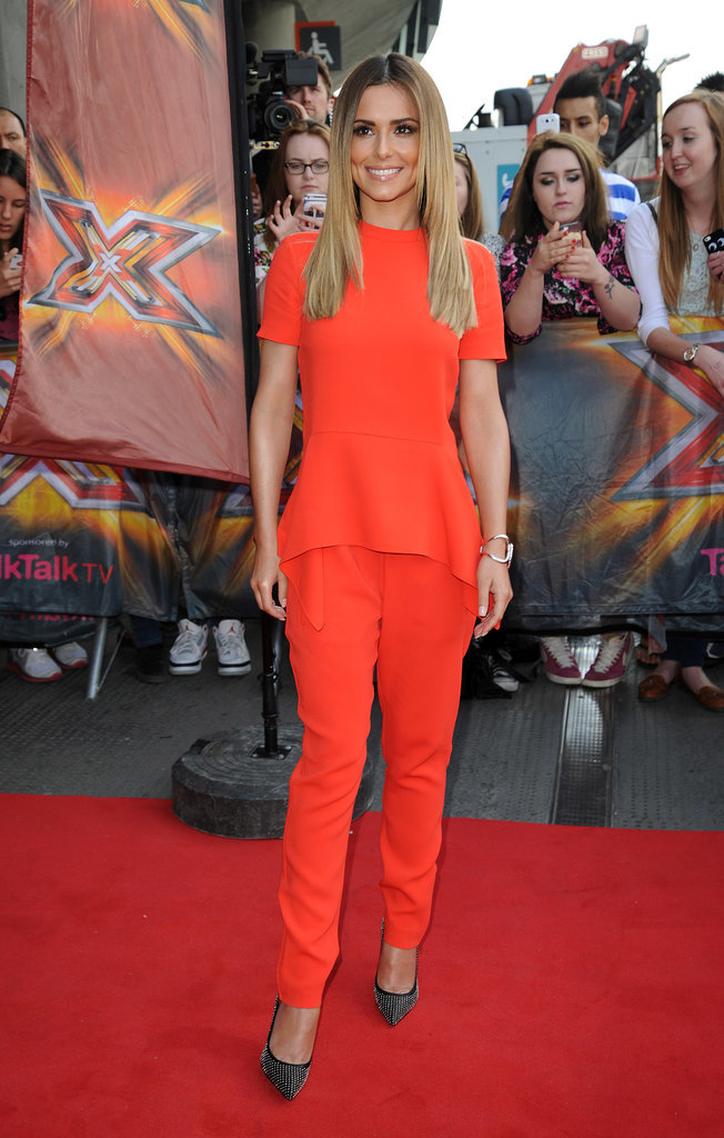 A slouchy peplum Stella McCartney look helped Cheryl stand out at the 2014 X Factor auditions in London.
