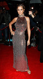 At the 2007 Red Cross Ball, Cheryl chose a sophisticated metallic halter-neck gown.