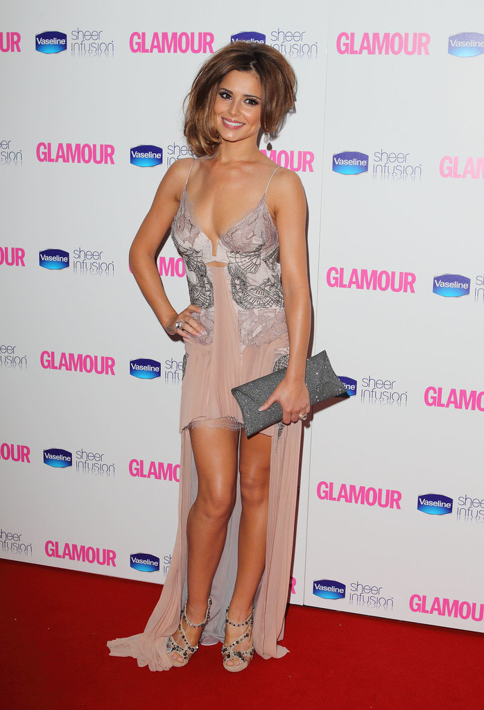 At the 2008 Glamour Women of the Year Awards, Cheryl picked a lacy Julien Macdonald gown.