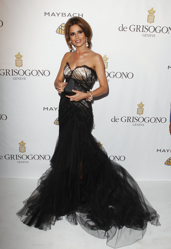 A Roberto Cavalli gown was Cheryl's choice for the De Grisogono party at the 2010 Cannes Film Festival.
