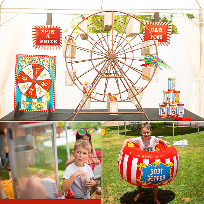 A Retro Carnival Birthday Party Full of Vintage-Inspired Details