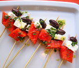 Watermelon, Black Olive, and Feta Skewers