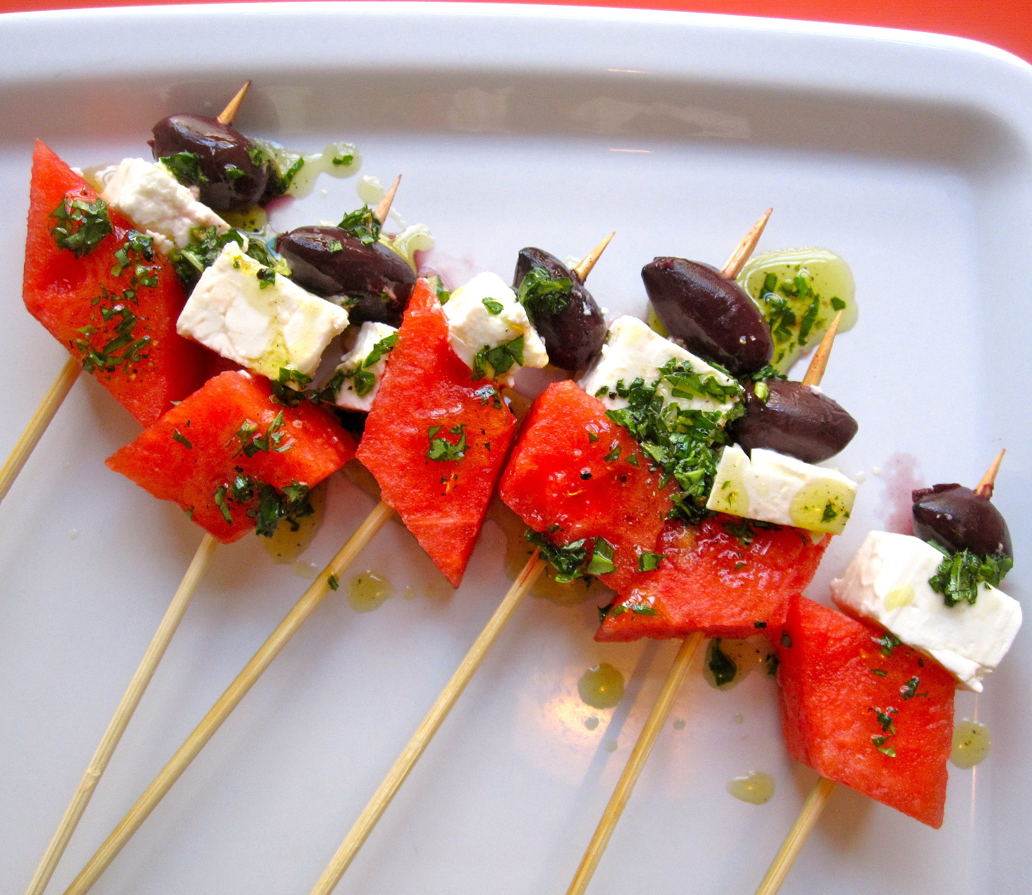 Watermelon, Black Olive, and Feta Skewers | Salute the Fourth With Our ...