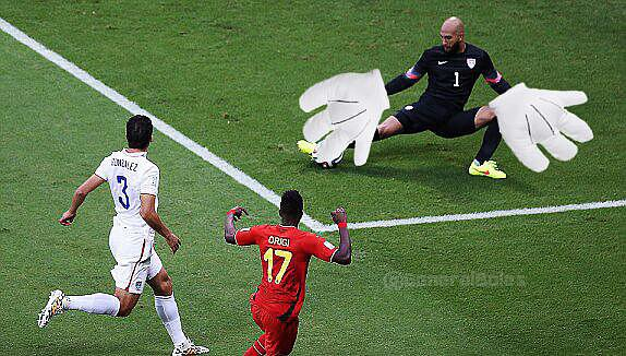 Tim Howard blocks all the things.  Source: Twitter user General Boles