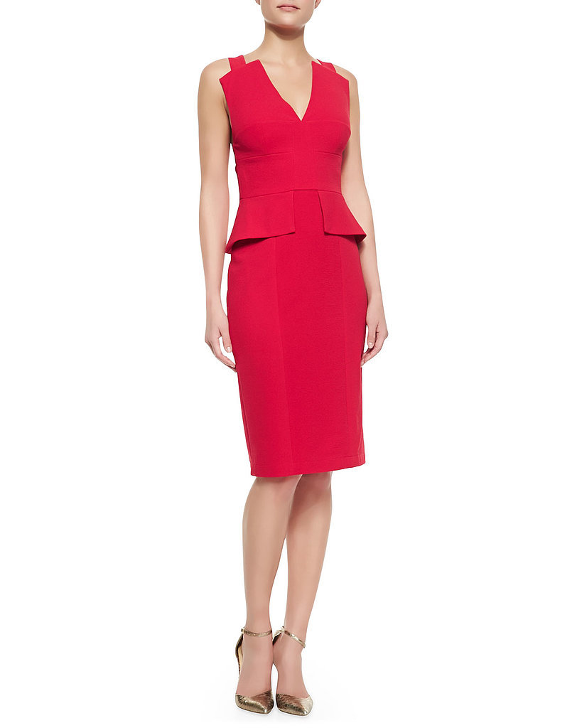 BCBG Peplum-Trimmed Sheath