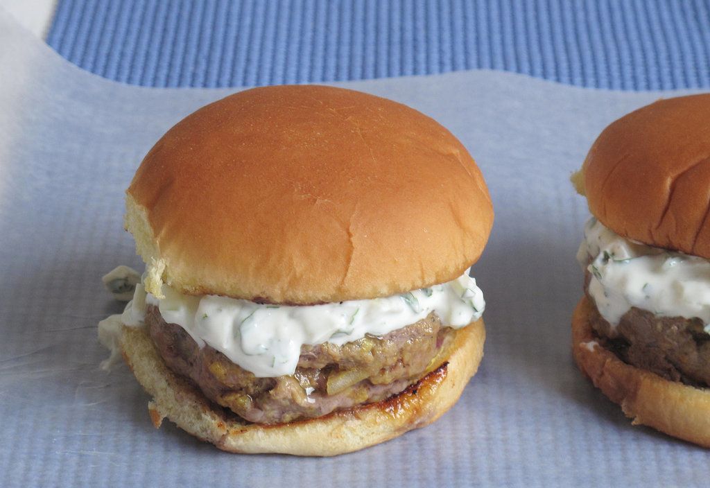 Indian-Spiced Burgers With Cucumber Yogurt