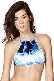 White String Bottom + Tie-Dye High-Neck Halter