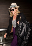 Diane Kruger smiled while arriving at LAX on Tuesday.