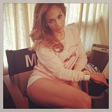 Jennifer Lopez showed off her sexy stems. Source: Instagram user jlo