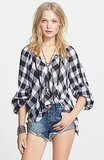 Free People Buffalo Check Cotton Top ($118)