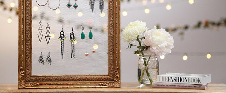 DIY: Adorable Vintage Frame Earring Holder