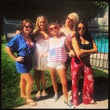 Sarah Hyland and her friends created an Independence Day girl group. Source: Instagram user therealsarahhyland