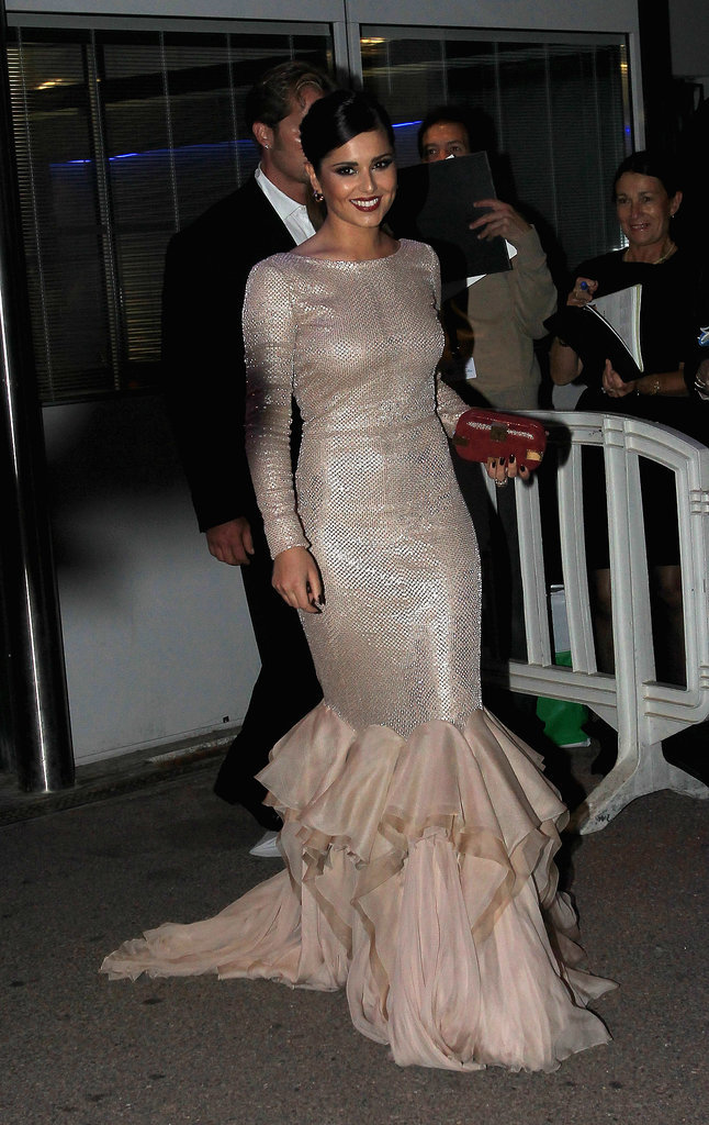 Cheryl Cole dazzled in a glittery mermaid dress at the Cannes Film Festival in 2011.