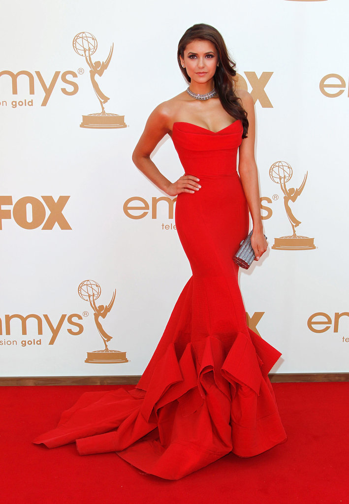 Nina Dobrev reminded us of a young Cindy Crawford in this sensational Donna Karan gown.