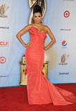 Eva Longoria looked amazing in this sculpted coral fishtail gown at the 2011 ALMA awards.