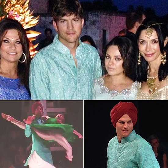 Ashton Kutcher And Mila Kunis At An Indian Wedding