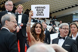 Actress Salma Hayek showed her support for the movement during the Cannes Film Festival on May 17.