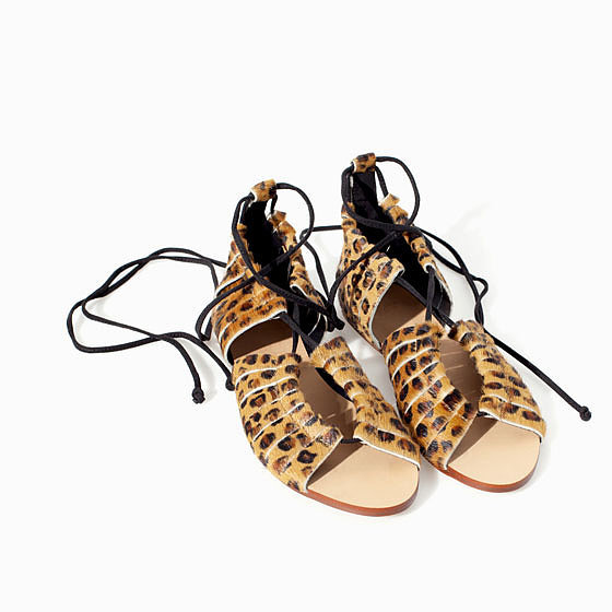 Zara Leopard Sandal ($50, originally $100)