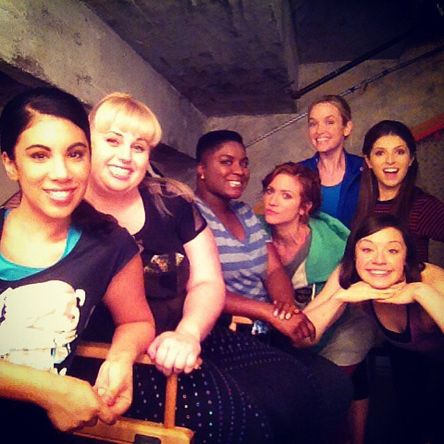 The Bellas posed for an impromptu shot. Source: Instagram user chrissiefit