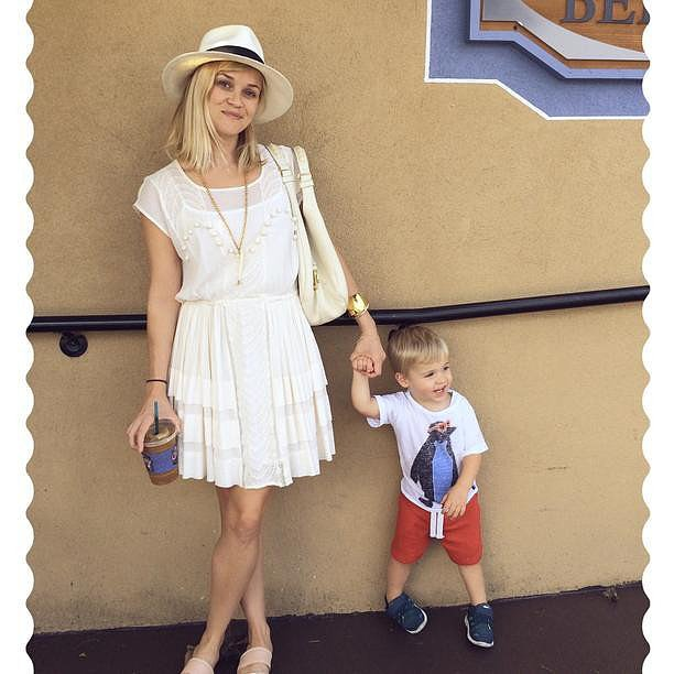 Reese Witherspoon had fun with her son Tennessee in New Orleans. Source: Instagram user reesewitherspoon