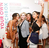 Jamie Chung took a selfie with Abigail Breslin, Jessica Szohr, and Hannah Bronfman at the Birchbox opening in NYC on Thursday.