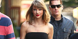 Taylor Swift's Strapless Top And Stilettos Make For A Sultry Afternoon Look