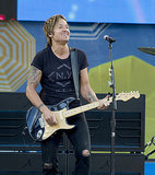 Keith Urban rocked out with a smile while performing on Good Morning America in NYC on Friday.