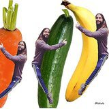 Jared Hugging Vegetables