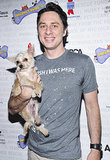 On Saturday, Zach Braff got cute with a dog named Taco on the Broadway Barks red carpet.