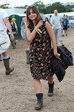 At Glastonbury, Jenna showed us she has festival style sorted. Grungy dress? Check! Practical footwear? Check!