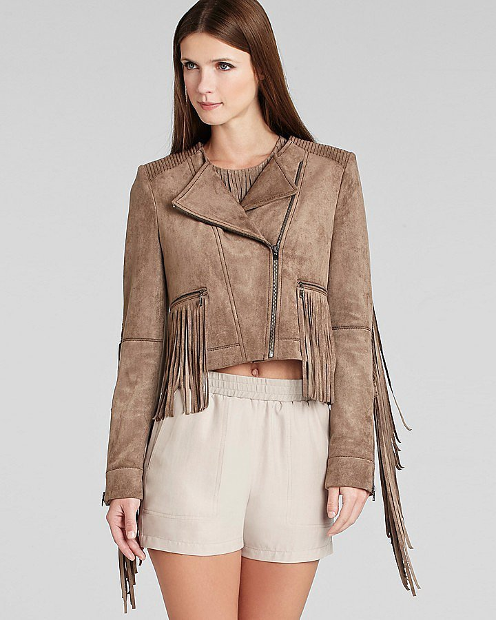 BCBGMAXAZRIA Fringed Jacket